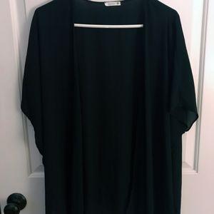 Nordstrom Soprano Black Silk Kimono Shrug M/L